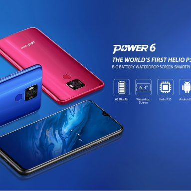 € 85 עם קופון עבור Ulefone Power 6 6.3 6350mAh 16mAh 4MP Dual מצלמה אחורית NFC 64GB 35GB הליו P4 ליבה XNUMXG Smartphone מ בנגוד