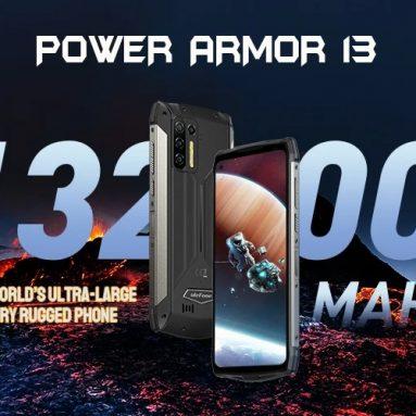 272 € cu cupon pentru Ulefone Power Armor 13 13200mAh Baterie 8GB 256GB 6.81 inch 48MP Camera Quad NFC Încărcare fără fir Helio G95 IP68 IP69K Impermeabil 4G Smartphone robust de la BANGGOOD