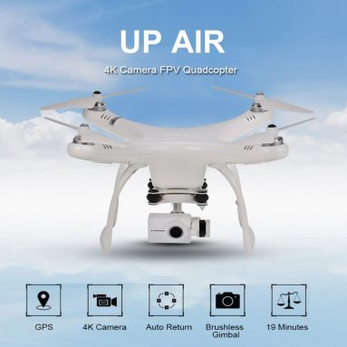 $279 with coupon for Up Air 5.8G 4K Brushless 4-axis GPS WiFi FPV RC Drone – RTF from GEARBEST