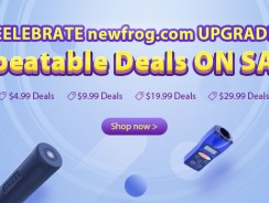 Celebrate NewFrog Upgrade, Unbeatable Deals On Sale! from Newfrog.com