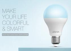 € 7 sa kupon para sa Utorch BW - 5 E27 Voice Control Smart WiFi Makulay na Banayad na bombilya - WHITE 9W 900LM mula sa GearBest