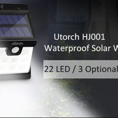 GEARBEST'ten Utorch HJ8 Solar Duvar Işığı için kuponlu $ 001