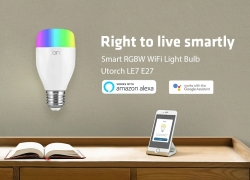 $ 9 med kupon til Utorch LE7 E27 WiFi Smart LED Bulb App / Voice Control fra GearBest
