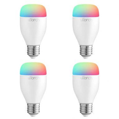 $ 38 με κουπόνι για το Utorch LE7 E27 WiFi Έξυπνη Λυχνία LED Ελέγχου Εφαρμογών / Φωνής - ΛΕΥΚΟ 4PCS από GearBest