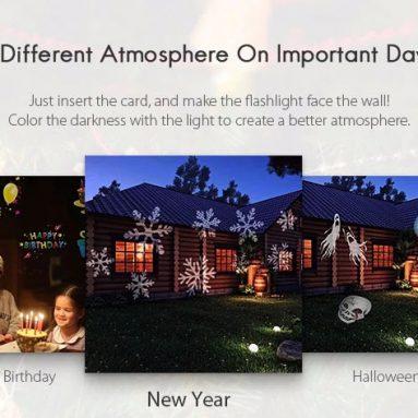 $ 9와 Utorch Snowflake를위한 쿠폰 제공 GearBest의 LED 손전등 프로젝터