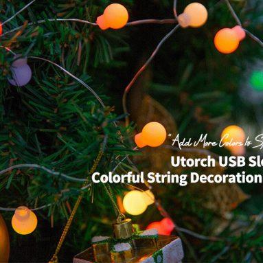 Utorch USB를위한 쿠폰이 포함 된 4 GearBest의 느린 플래시 다채로운 문자열 장식 조명 7M