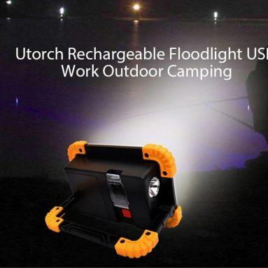 $ 9 s kuponom za Utorch W1 Punjiva Floodlight USB Rad Vanjsko Kampiranje Svjetlo upozorenja - ZLATNA BROWN od Gearbest