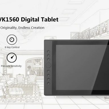 $329 with coupon for VEIKK VK1560 15.6 inch Digital Tablet LCD IPS Drawing Monitor – BLACK US PLUG from GearBest