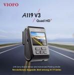 $ 91 met coupon voor VIOFO A119 V3 2019 Nieuwste versie 2560 * 1600P Autodashcam 140 ° brede kijkhoek DVR-camera met GPS van BANGGOOD