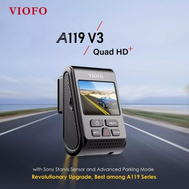 $ 99 với phiếu giảm giá cho VIOFO A119 V3 2019 Phiên bản mới nhất 2560 * 1600P Camera Dash Cam 140 ° Camera góc nhìn rộng có GPS từ BANGGOOD