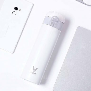 $13 with coupon for VIOMI Stainless Steel Vacuum Durable 300ml Thermos WHITE from GearBest
