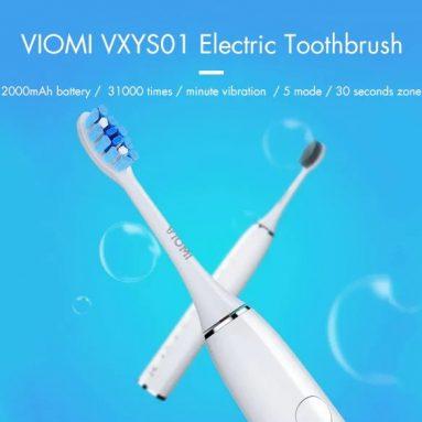 $ 27 với phiếu giảm giá cho Xiaomi VIOMI VXYS01 Bàn chải đánh răng điện Sonic Sonic Chế độ chải đánh răng IPX5 Chống nước từ Xiaomi Youpin từ GEARVITA
