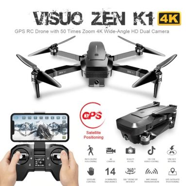 € 133 với phiếu giảm giá cho VISUO ZEN K1 5G WIFI FPV GPS với máy ảnh kép 4K HD không chổi than có thể gập lại RC Drone Drone - Một pin không có túi lưu trữ từ BANGGOOD