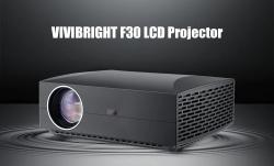 $ 175 mit Gutschein für VIVIBRIGHT F30 LCD-Projektor Home Entertainment Commercial - Weißer EU-Stecker von GEARBEST