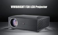 $ 169 s kupónem pro LCD projektor VIVIBRIGHT F30, domácí zábava - černý EU Plug od GEARBEST