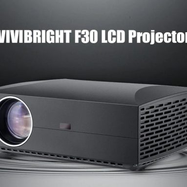 $175 with coupon for VIVIBRIGHT F30 LCD Projector Home Entertainment Commercial – White EU Plug from GEARBEST