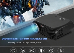 $139 with coupon for VIVIBRIGHT GP100 LCD Home Theater Cinema Projector – BLACK EU PLUG from GearBest
