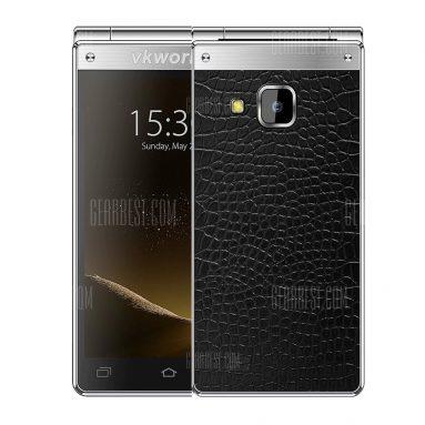 $ 259 mit Gutschein für VKworld T2 Plus 4G Smartphone - SCHWARZ UND SILBER von GearBest
