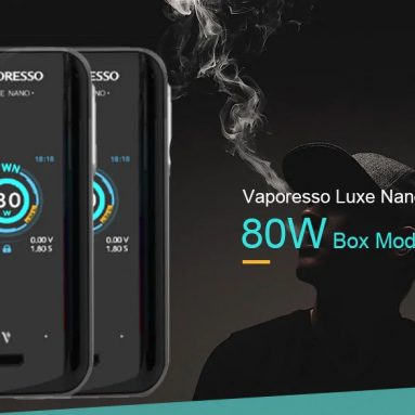 $64 with coupon for Vaporesso Luxe Nano 80W Box Mod – Macaw Blue Green from GEARBEST