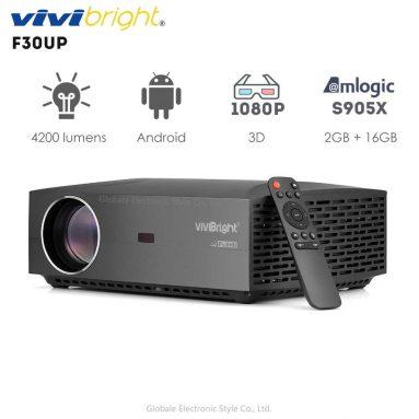 € 150 dengan kupon untuk Vivibright F30UP Android Versi 6.01 Full HD 1920 * 1080 4200 Lumens 2G 16G Hiburan Rumah Proyektor Komersial Home Theater EU CZ / AU / US / RU Gudang dari BANGGOOD