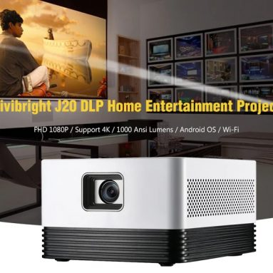 $635 with coupon for Vivibright J20 DLP Home Entertainment Projector – White EU Plug from GEARBEST