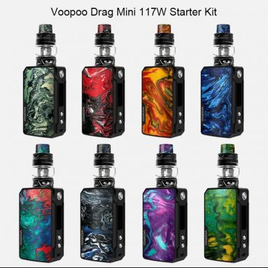 $65 with coupon for Voopoo Drag Mini 117W Mod Kit – DENIM DARK BLUE from GearBest