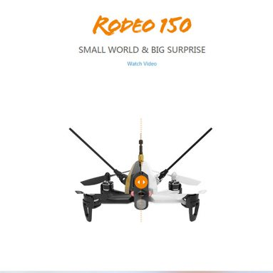 Walkera Rodeo 150 Racing 3D Utgave RC Quadcopter BNF (My 600TVL Kamera / OSD / Batterie / Ladegerät) fra Hobbywow