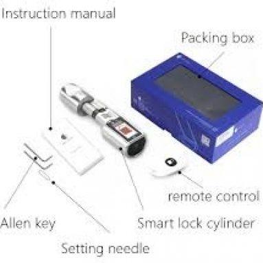 111 eura s kuponom za WE.LOCK Ai.one Inteligentni elektronički otisak cilindra zaključavanja vrata + Bluetooth + daljinski upravljač IP44 Vodootporno otvaranje putem pametnog telefona, WiFi kutija u suradnji s Alexa, 3-minutni DIY brzi i jednostavni sklop za vrata debljine 55-105 mm iz EU skladište GEEKBUYING