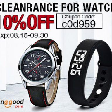 10% OFF cho đồng hồ & công cụ giải phóng mặt bằng bộ sưu tập! từ CÔNG TY TNHH CÔNG NGHỆ BANGGOOD