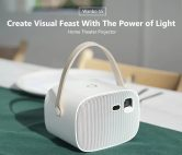 €126 with coupon for Wanbo S5 HD DLP 200 ANSI Lumens Ultra-thin Portable Home Theater Projector – WARM WHITE EU PLUG from Gearbest