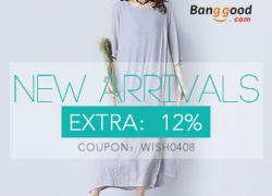 12% OFF for Women's Dress New Arrivals from BANGGOOD TECHNOLOGY CO., LIMITED