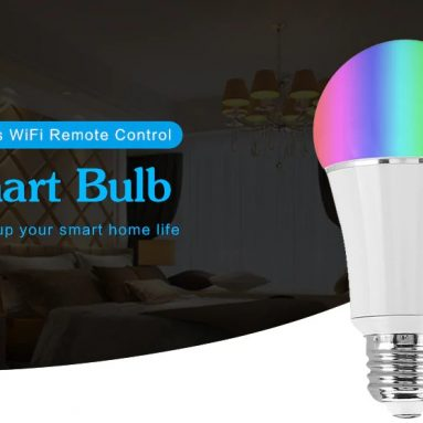 $9 with coupon for Wireless WiFi Remote Control Smart Bulb – White E27 from GearBest