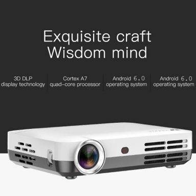 €418 with coupon for WOWOTO H10 DLP Home Entertainment Projector EU Plug from GEARBEST