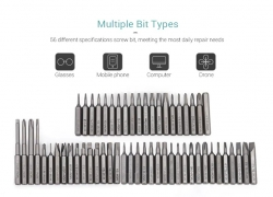 $9 with coupon for Wowstick 56pcs 4mm Bits for Precision Electric Screwdriver from GEARBEST