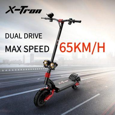 1288 € s kupónem pro X-Tron X10pro 10 palců 3200W 60V 20.8Ah dvoumotorový elektrický skútr 65 km/h maximální rychlost 60-80 km dosah 150 kg maximální zatížení ze skladu EU CZ BANGGOOD