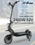 1158 € s kupónem na X-Tron X20 10 palcový 2400W 52V 23.4Ah dvoumotorový elektrický skútr ze skladu EU CZ BANGGOOD