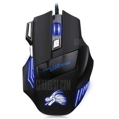 $4 with coupon for X3 USB Wired Optical Gaming Mouse  –  BLACK from GearBest