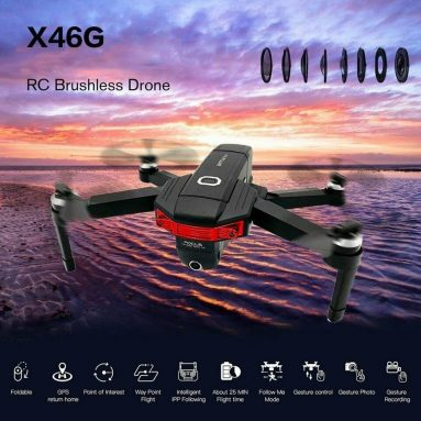 $139 with coupon for X46G GPS 5G WiFi FPV with 4K Dual Cameras Brushless RC Drone – Black from GEARBEST