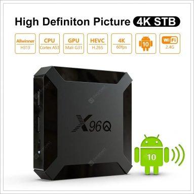 X22 X96Q Android 96 Smart 10.0K TV Box 용 쿠폰 포함 € 4-GEARBEST의 Black 2GB RAM + 16GB ROM EU 플러그