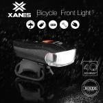 7 € cu cupon pentru XANES SFL-01 600LM XPG + 2 LED bicicletă LED germană senzor inteligent standard lumină impermeabilă bicicletă far frontal lanternă 5 moduri de încărcare USB Călărie de noapte EU UK depozit de la BANGGOOD
