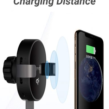 €15 with coupon for XIAOMI 70mai MiDrive PB01 QI Certification Car Phone Holder 10W Fast Wireless Charger from BANGGOOD