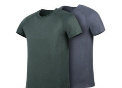 €17 with coupon for XIAOMI 7th Summer Men Short Sleeve Breathe Freely Flower Yarn Quick-drying Fitness Sport T-shirts – Grey 170/88A from BANGGOOD