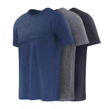 €12 with coupon for XIAOMI 90 FUN Quick-Dry Short Sleeve T-Shirt Fitness Sports Cycling Casual Breathable T-Shirts from BANGGOOD