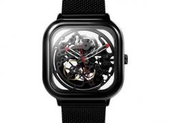 € 135 med kupon til XIAOMI CIGA Design mænd automatisk mekanisk ur fuld hul rustfrit stål armbåndsur - sølv fra BANGGOOD
