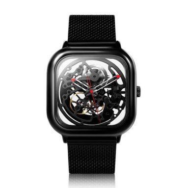 € 135 với phiếu giảm giá cho XIAOMI CIGA Design Men Đồng hồ cơ tự động Full Đồng hồ đeo tay bằng thép không gỉ Full Hollow - Bạc từ BANGGOOD