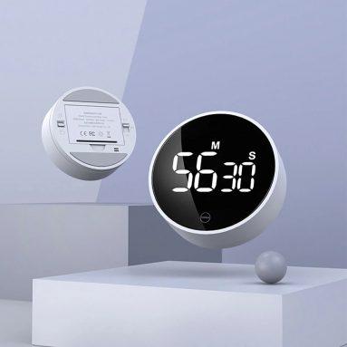 8 € cu cupon pentru XIAOMI MIIIW Mute Timer Ceas cu alarmă Timing rotativ Afișaj LED Bucătărie Timer digital Aspirare magnetică Gătit la domiciliu Studiu Instrument de sincronizare de la BANGGOOD