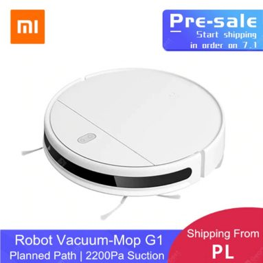 €154 with coupon for XIAOMI MIJIA Mi Sweeping Mopping Robot Vacuum Cleaner G1 EU POLAND Warehouse from GEARBEST