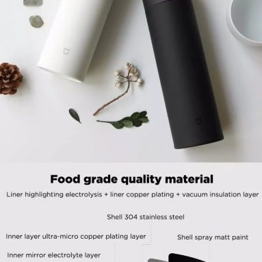 €22 with coupon for XIAOMI Mijia 480ML Vacuum Thermos Bottle Women Men Long Lasting Insulation Stainless Steel Water Bottles with Tea Strainer – Black from BANGGOOD