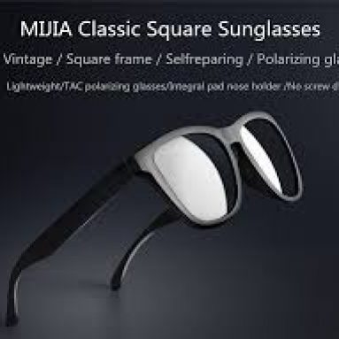 €24 with coupon for Original XIAOMI Mijia Classic Square Sunglasses Selfrepairing TAC Polarizing Lense No Scew Sunglasses 6 Layer Polarizing Film from BANGGOOD