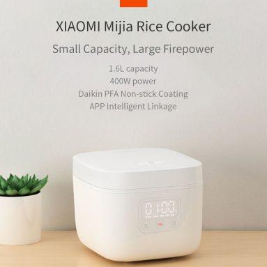 € 61 com cupom para XIAOMI Mijia DFB201CM Arroz pequeno 1.6L 400W APP Linkage Panela de arroz antiaderente de BANGGOOD